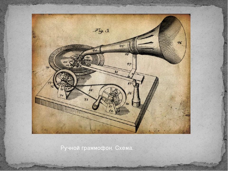 Ручной граммофон. Схема.