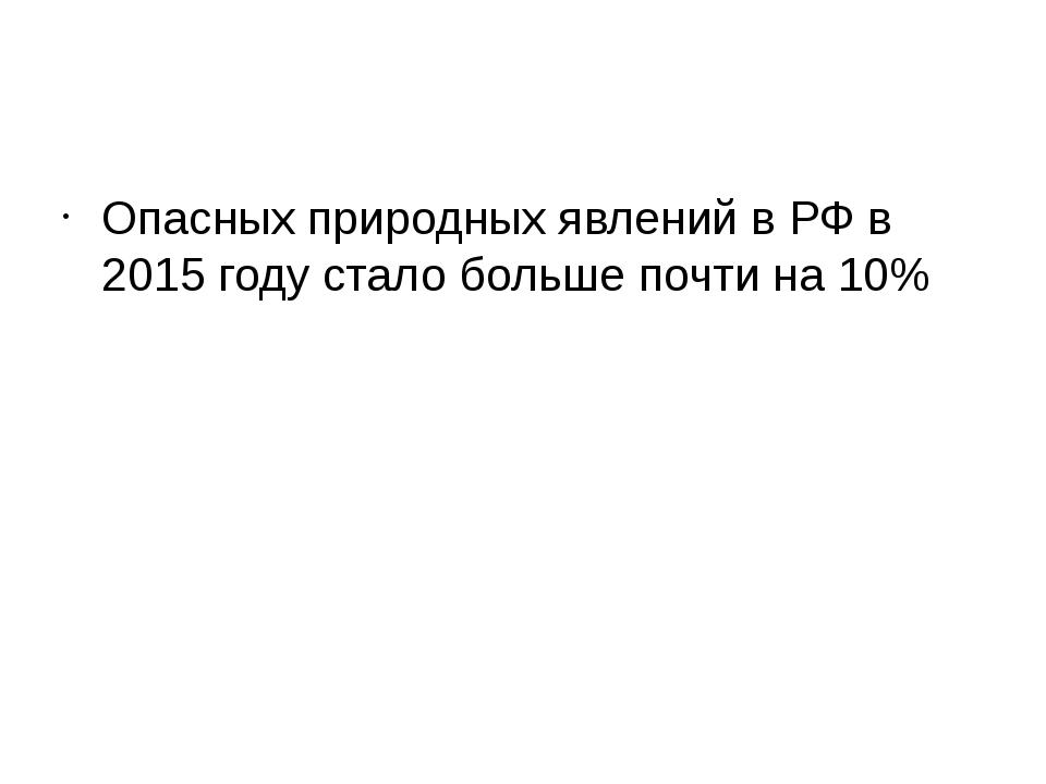 Опасных природных явлений в РФ в 2015 году стало больше почти на 10%