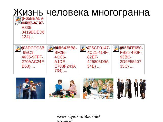 Жизнь человека многогранна www.iktyrok.ru Василий Косенко