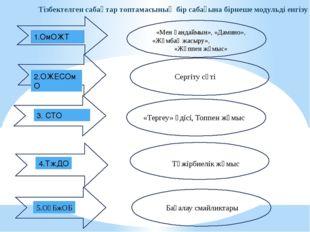 Тізбектелген сабақтар топтамасының бір сабағына бірнеше модульді енгізу 1.ОмО
