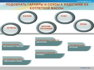 www.themegallery.com Company Logo ПОДОБРАТЬ ГАРНИРЫ И СОУСЫ К ИЗДЕЛИЯМ ИЗ КОТ