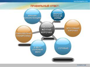 www.themegallery.com Company Logo ПРАВИЛЬНЫЙ ОТВЕТ: СВЕТЛО- ЖЁЛТАЯ КОРОЧКА ОВ