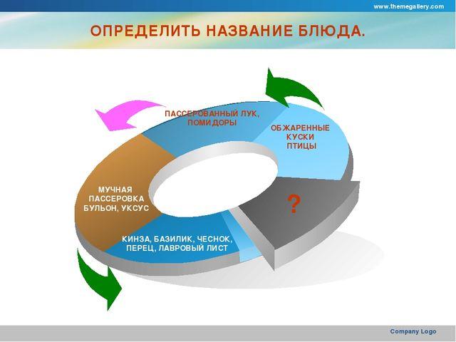 www.themegallery.com Company Logo МУЧНАЯ ПАССЕРОВКА БУЛЬОН, УКСУС ПАССЕРОВАНН...