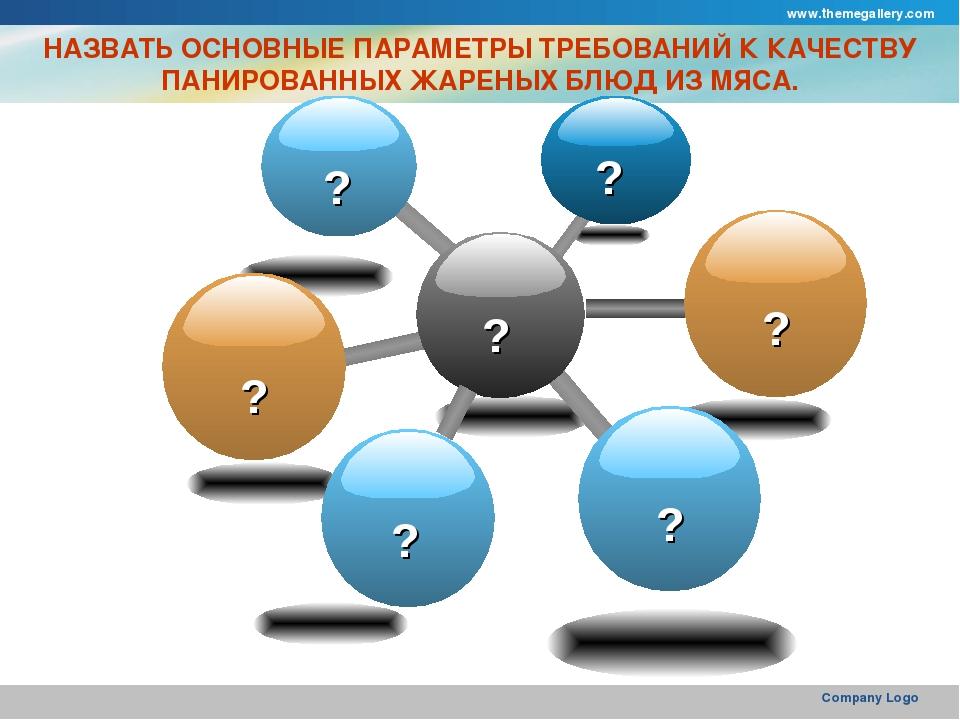 www.themegallery.com Company Logo НАЗВАТЬ ОСНОВНЫЕ ПАРАМЕТРЫ ТРЕБОВАНИЙ К КАЧ...