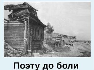 Поэту до боли в сердце жаль разрушенные гражданской войной русские деревни…