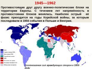 Противостоящие друг другу военно-политические блоки на территории Европы. С т