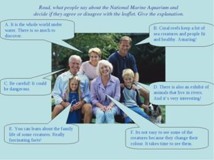 Read, what people say about the National Marine Aquarium and decide if they a