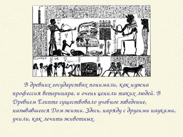 В древних государствах понимали, как нужна профессия ветеринара, и очень це...