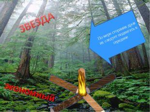 По мере сгорания дров их следует подвигать к середине экономный