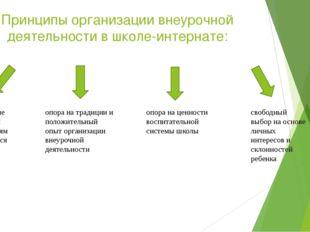Принципы организации внеурочной деятельности в школе-интернате: соответствие