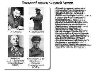 Польский поход Красной Армии В этой ситуации советское правительство 17 сентя