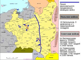 Линия максимального продвижения немецких войск Белорусский фронт Украинский ф