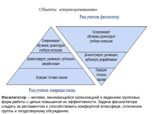 Объекты «переворачивания» Фасилитатор – человек, занимающийся организацией и...