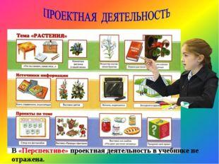 В «Перспективе» проектная деятельность в учебнике не отражена.