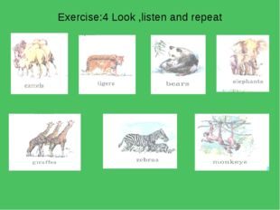 Exercise:4 Look ,listen and repeat