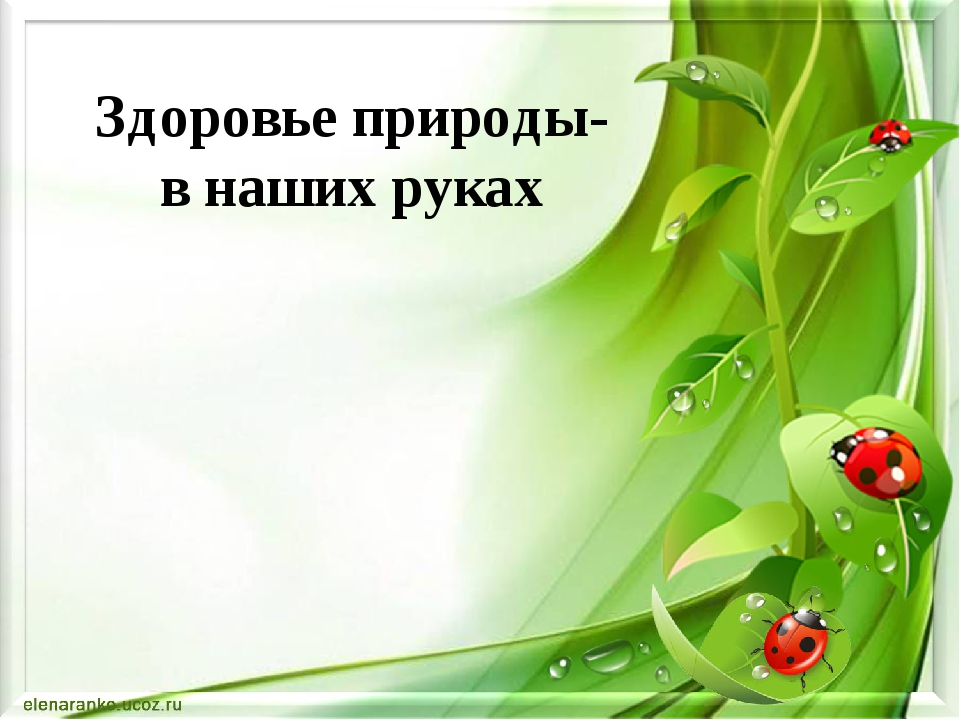Здоровье природы- в наших руках