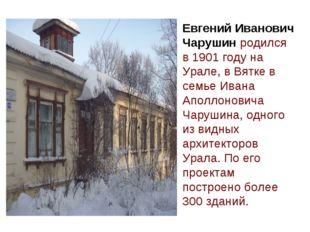 Евгений Иванович Чарушин родился в 1901 году на Урале, в Вятке в семье Ивана