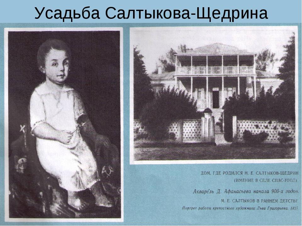 Усадьба Салтыкова-Щедрина