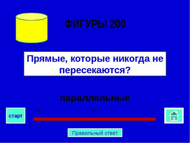 параллельные Прямые, которые никогда не пересекаются? ФИГУРЫ 200 0 30 60 ста...