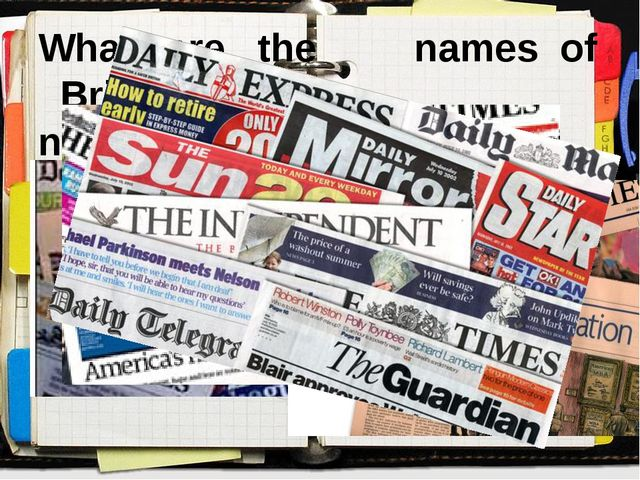 What are the names of British newspapers?