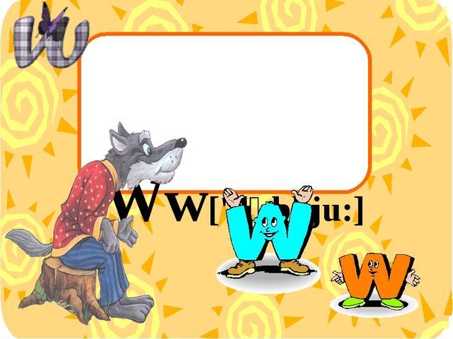 Ww['dʌbl ju:]