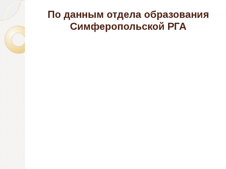 По данным отдела образования Симферопольской РГА