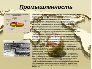 Промышленность Ивановская область является индустриальным регионом с высокора