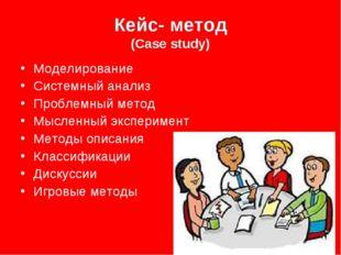 Кейс- метод (Case study) Моделирование Системный анализ Проблемный метод Мысл