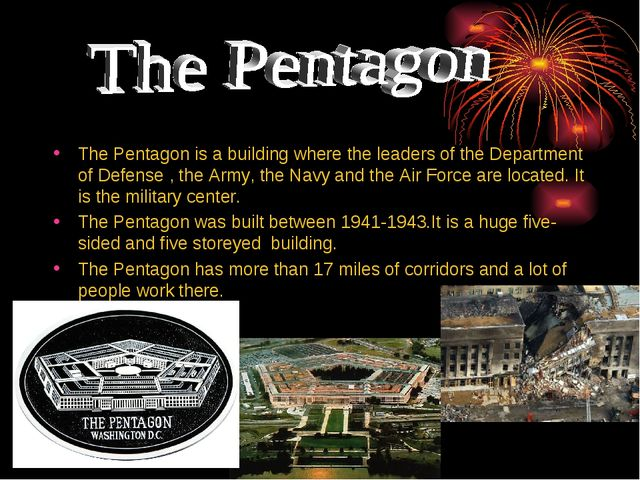The Pentagon is a building where the leaders of the Department of Defense , t...
