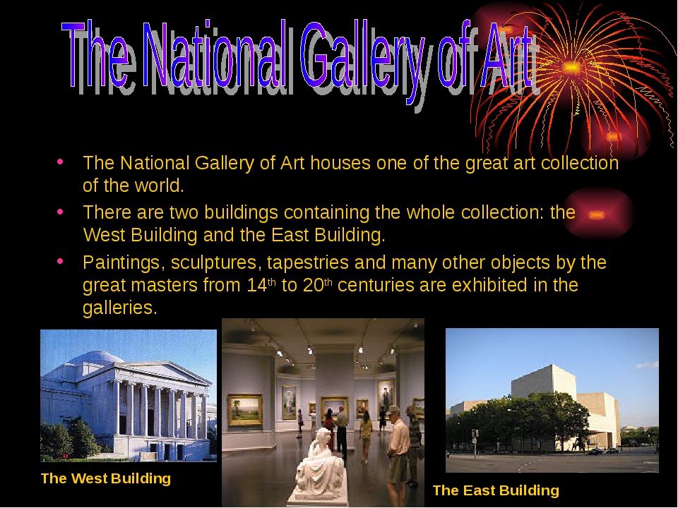 The National Gallery of Art houses one of the great art collection of the wor...
