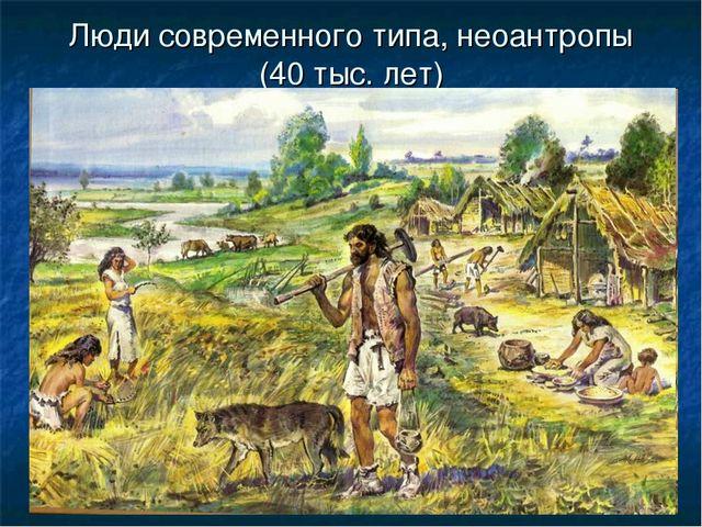 Люди современного типа, неоантропы (40 тыс. лет)