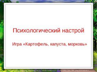 Психологический настрой Игра «Картофель, капуста, морковь» Лазарева Лидия Анд