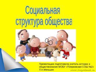 Презентацию подготовила учитель истории и обществознания МОБУ «Поярковская СО
