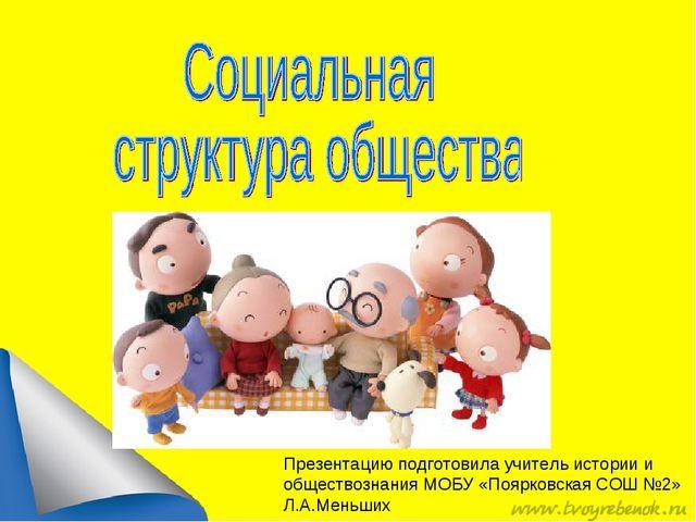 Презентацию подготовила учитель истории и обществознания МОБУ «Поярковская СО...