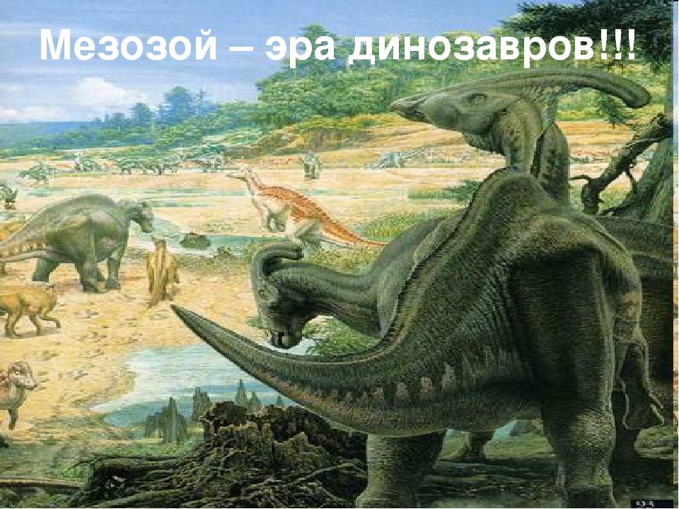 Мезозой – эра динозавров!!!