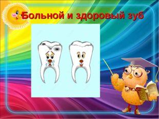Больной и здоровый зуб