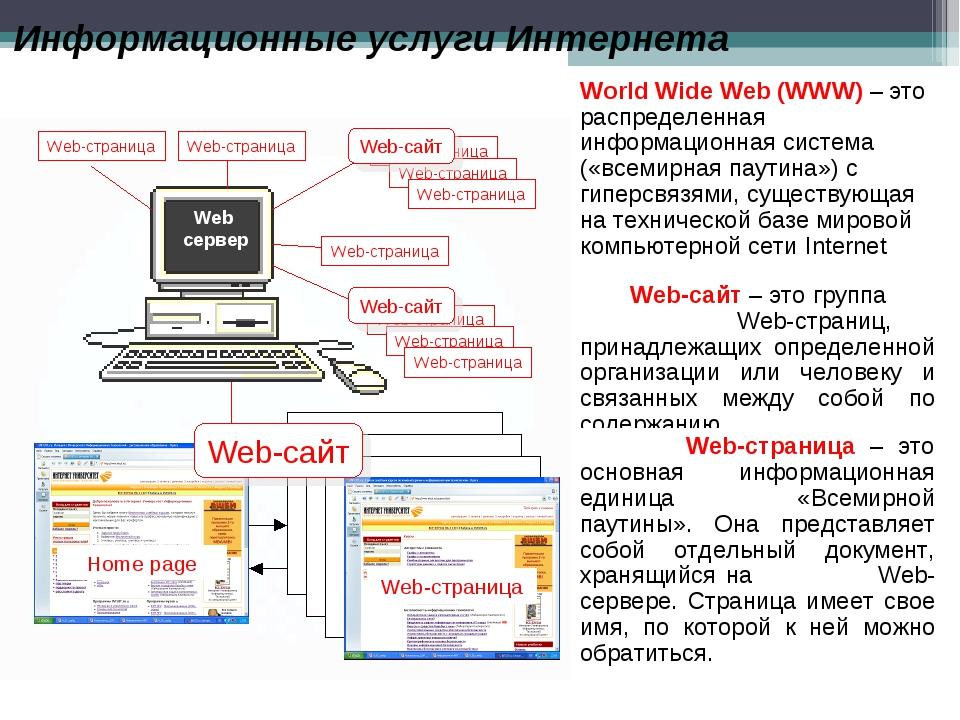 World Wide Web (WWW) – это распределенная информационная система («всемирная...