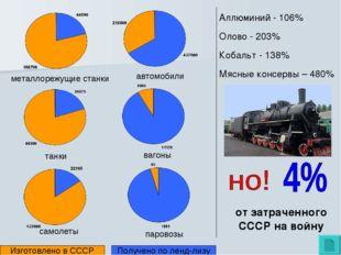 паровозы автомобили танки вагоны самолеты металлорежущие станки Изготовлено в