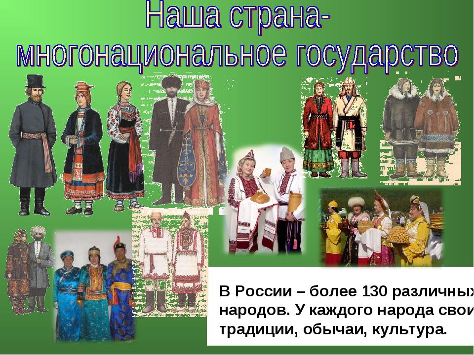 В России – более 130 различных народов. У каждого народа свои традиции, обыча...