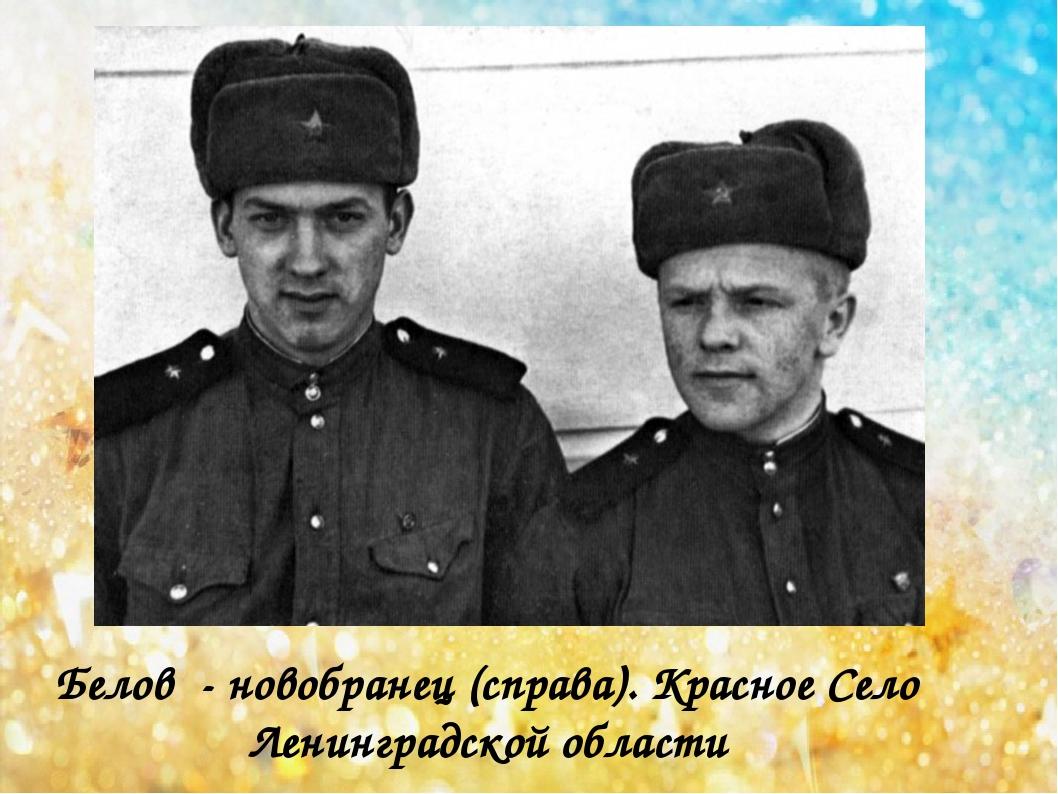 Белов - новобранец (справа). Красное Село Ленинградской области