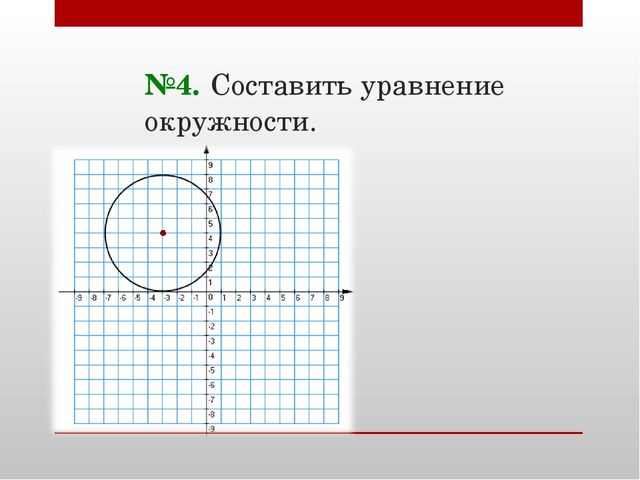 №4. Составить уравнение окружности.