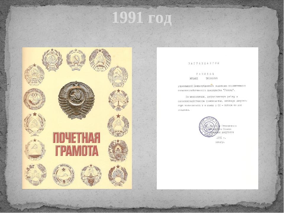 1991 год