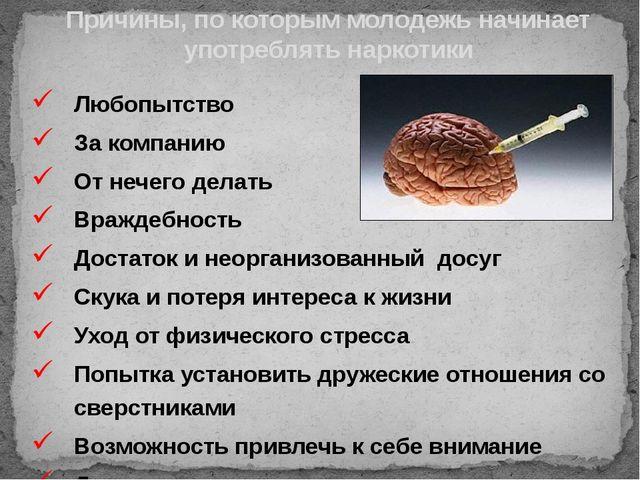 Любопытство За компанию От нечего делать Враждебность Достаток и неорганизова...