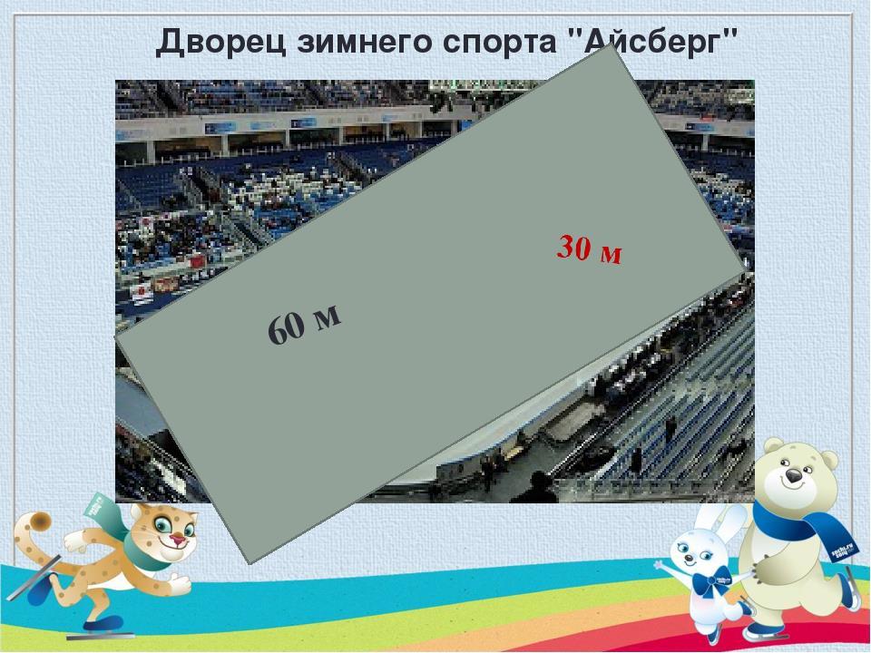 """Дворец зимнего спорта """"Айсберг"""" 60 м"""