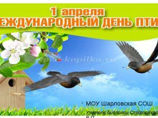 МОУ Шарловская СОШ Учитель биологии Старостина В.П.