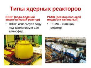 Типы ядерных реакторов ВВЭР (водо-водяной энергетический реактор) ВВЭР исполь
