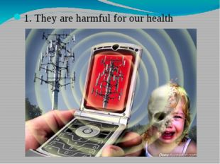1. They are harmful for our health