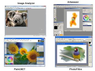 Paint.NET PhotoFiltre Image Analyzer Artweaver