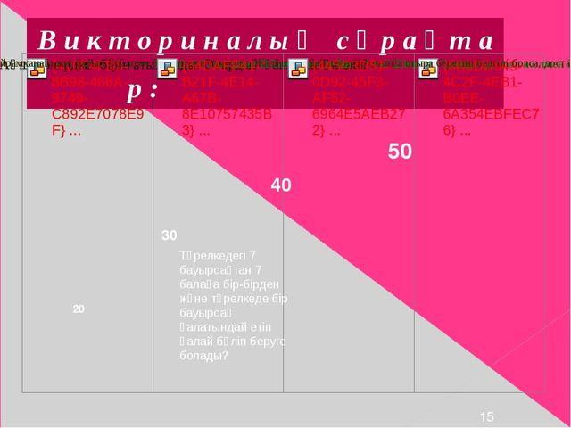 В и к т о р и н а л ы қ с ұ р а қ т а р : 20 Тәрелкедегі 7 бауырсақтан 7 бал...