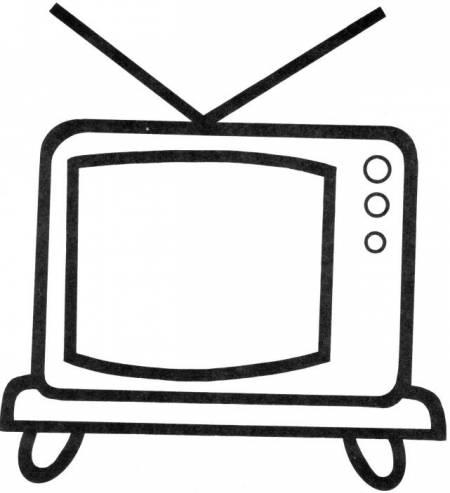 Телевизор раскраска для детей
